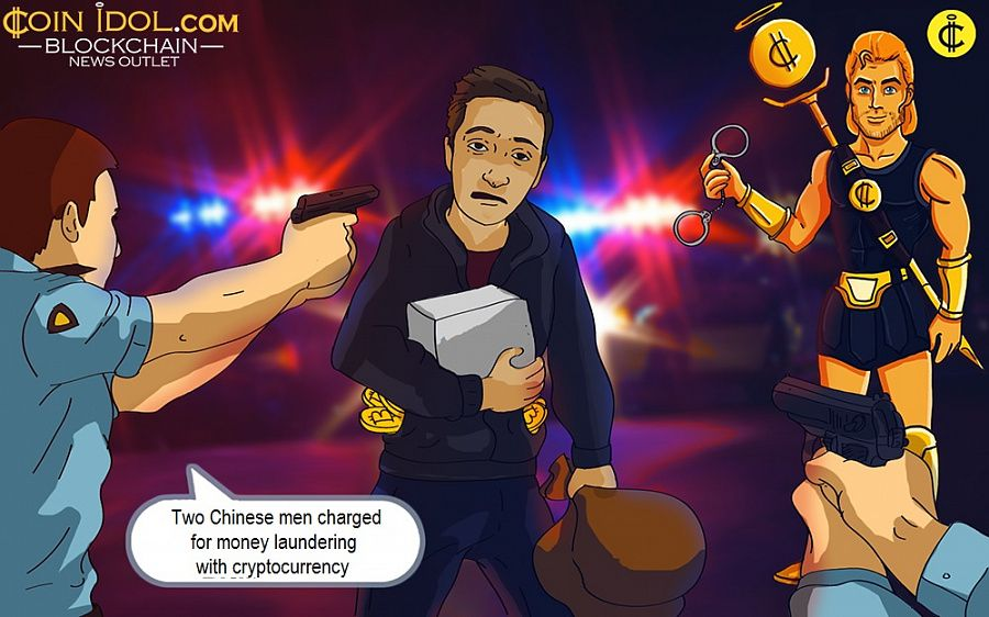 Two Chinese men charged for money laundering with cryptocurrency