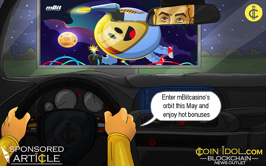 Enter mBitcasino's orbit this May and enjoy hot bonuses, free spins, and a stellar VIP experience.