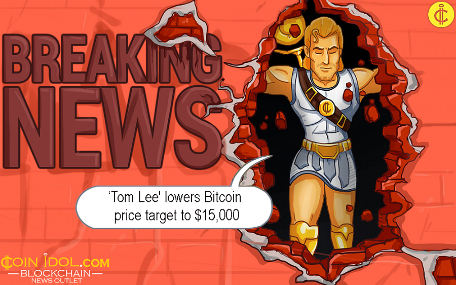 Tom's new forecast is a dramatic fall from the weighty target price of $25,000 he had earlier set this year when the digital currency market appeared ready for a significant boom.