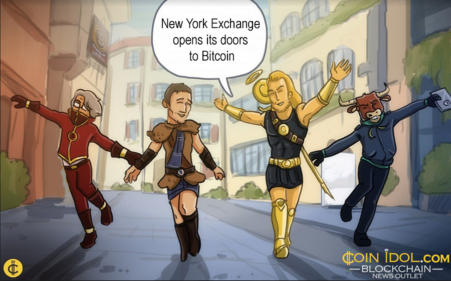 Historical milestone for the cryptocurrency market. Intercontinental Exchange (ICE), the operator that manages the NYSE, has opened the door to BTC.