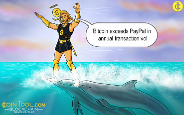 Bitcoin Exceeds PayPal in Annual Transaction Vol at $1.3T