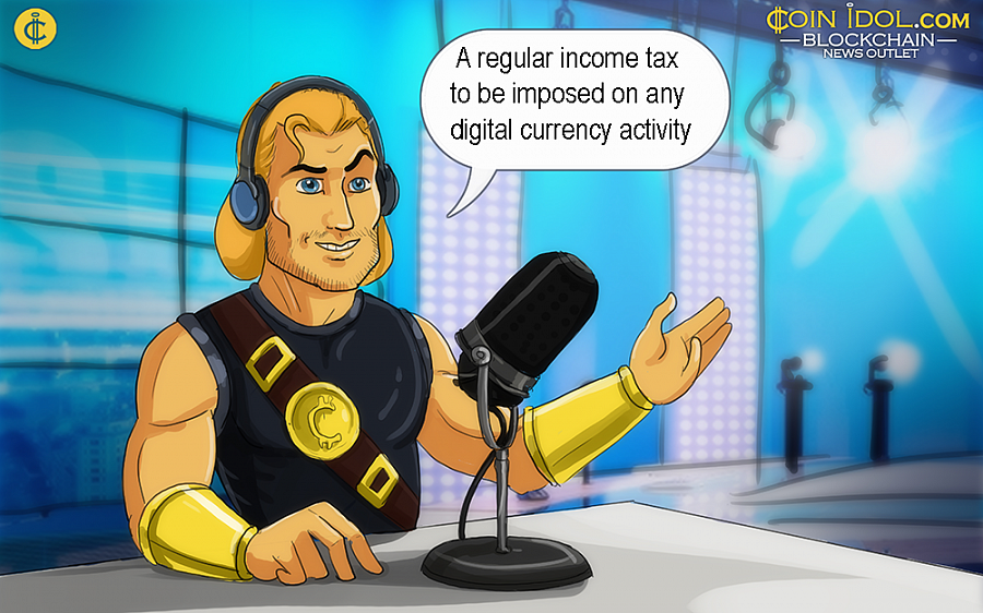 According to an official from the Finance Ministry, a regular income tax is expected to be imposed on any digital currency activity, like mining or trading.