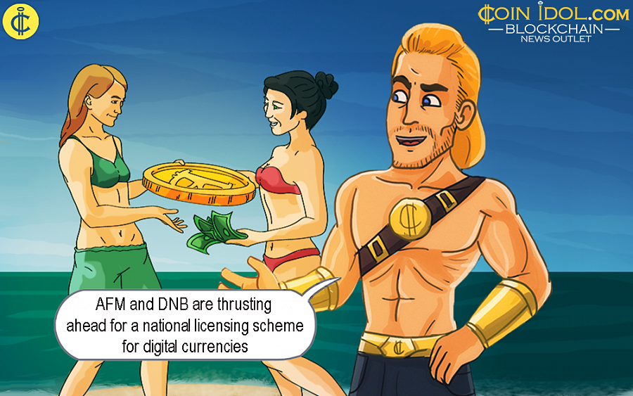 The AFM and DNB, wants a licensing system established for all cryptocurrency exchange platforms and providers of crypto wallets, in order to effectively prevent terrorism funding and money laundering.
