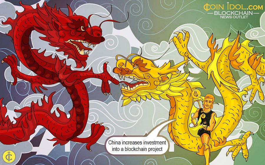 China increases investment into a blockchain project
