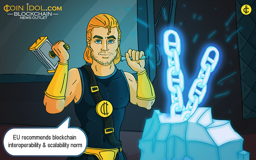 "The report labelled ""Scalability, Interoperability and Sustainability of Blockchains"" was issued by ConsenSys on behalf of the EU Blockchain Observatory and Forum."