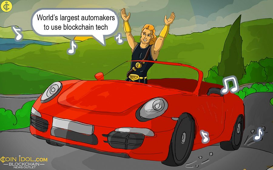 Automakers to use blockchain