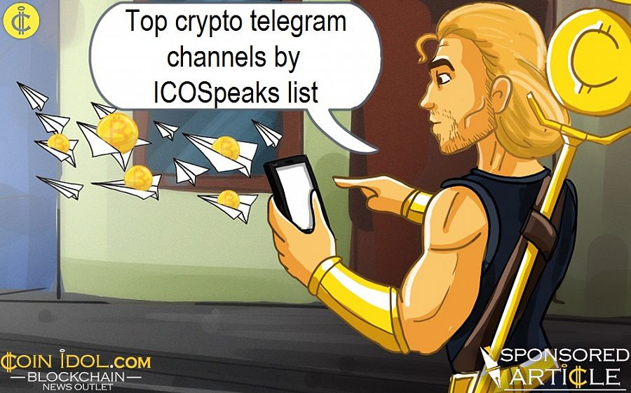 Top crypto telegram channels by ICOSpeaks list