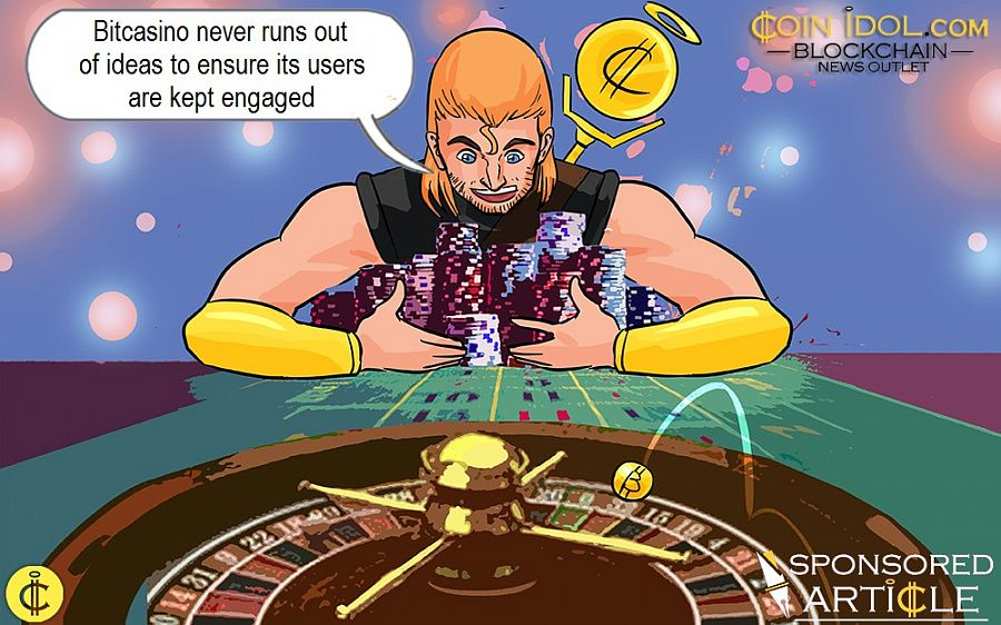 Bitcasino never runs out of ideas to ensure its users are kept engaged