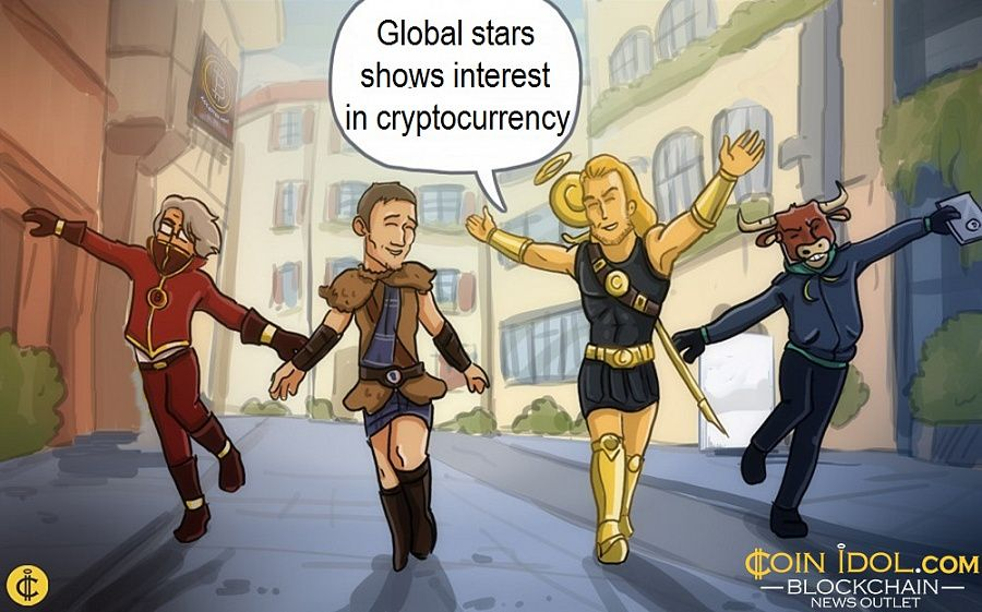 Global stars shows interest in cryptocurrency