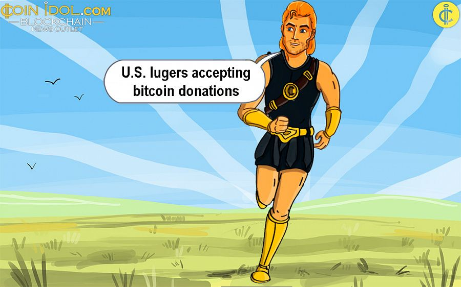 U.S. lugers accepting bitcoin donations