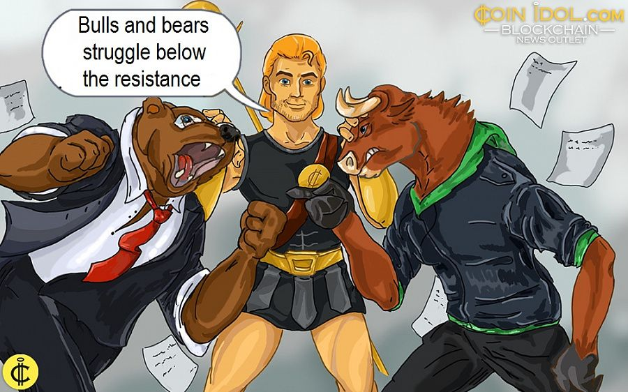 Bulls and bears struggle below the resistance