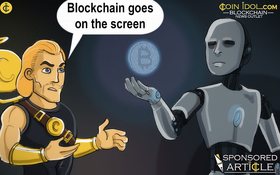Blockchain goes on the screen