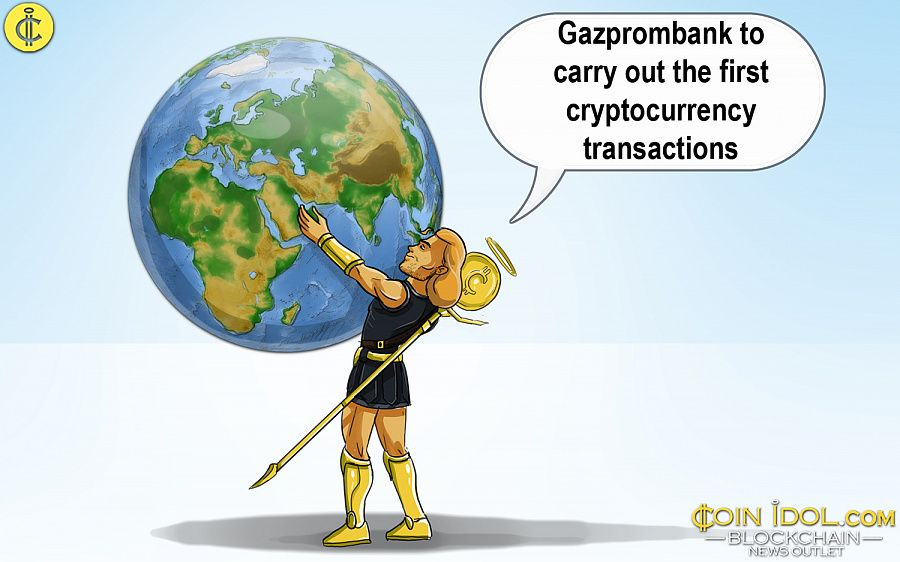 Gazprombank to carry cryptocurrency transactions