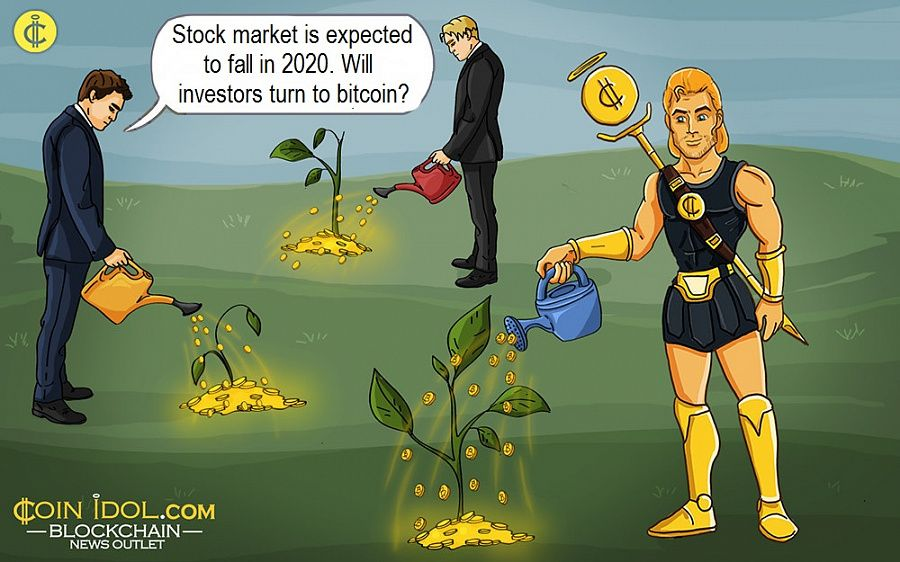 Stock market is expected to fall in 2020. Will investors turn to bitcoin?
