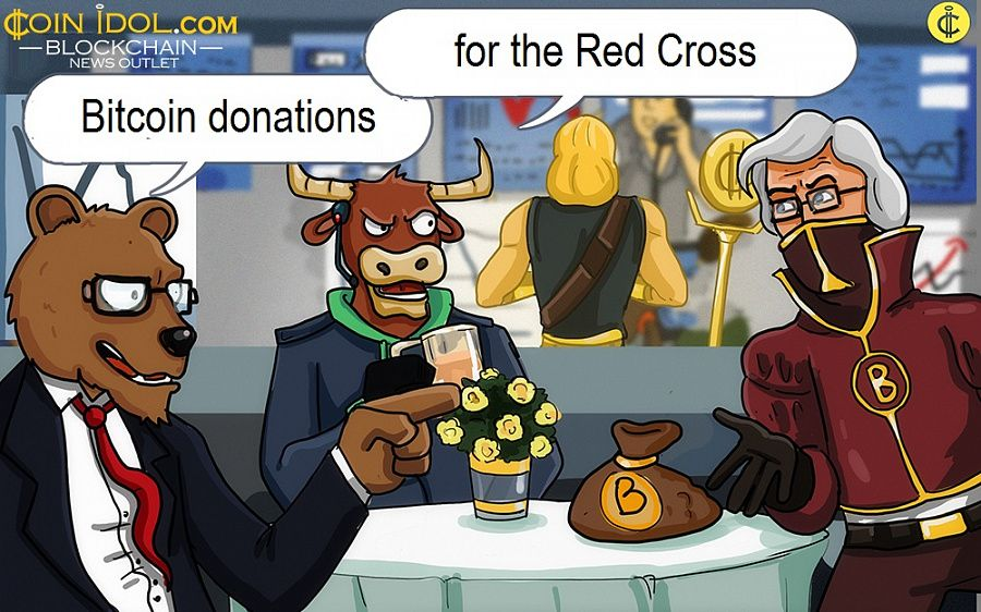 Bitcoin donations for the Red Cross